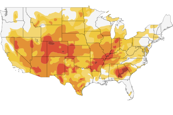 Interactive Mapping The Us Drought Npr - Drought-map-us