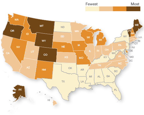 States With Highest Breweries Per Capita Rates